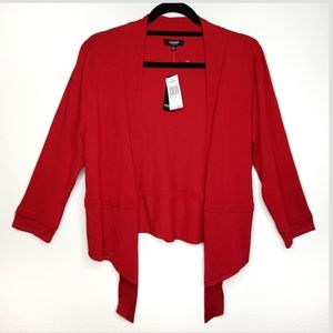 NWT Premise Studio tapered open red cardigan XL